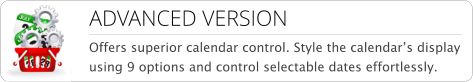 vm calendar picker- advanced promo menu